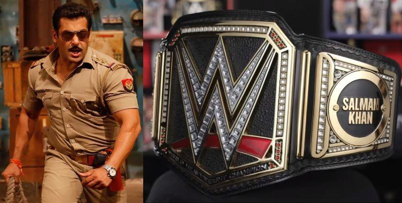 सलमान खान को WWE ने दी कस्टम चैंपियनशिप बेल्ट