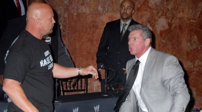 Austin and Vince McMahon