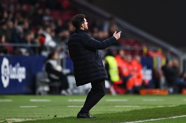 Diego Simeone will want his defenders to be on top