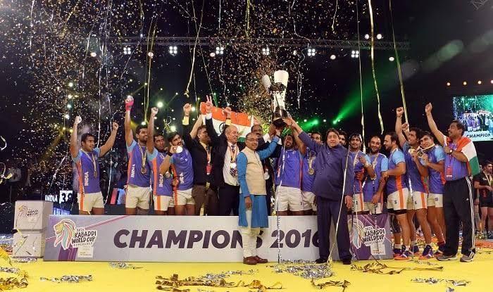 India won the 2016 Kabaddi World Cup by beating Iran 38-29.