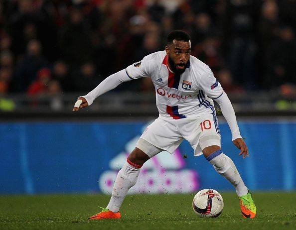 Alexsandre Lacazette playing for Lyon
