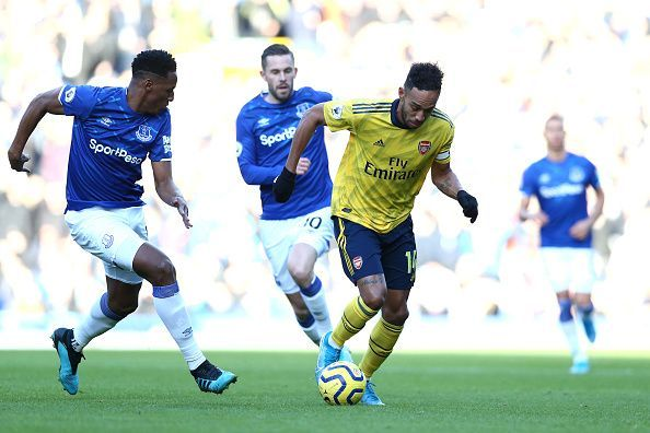 Everton held Arsenal to a 0-0 draw with Goodison Park