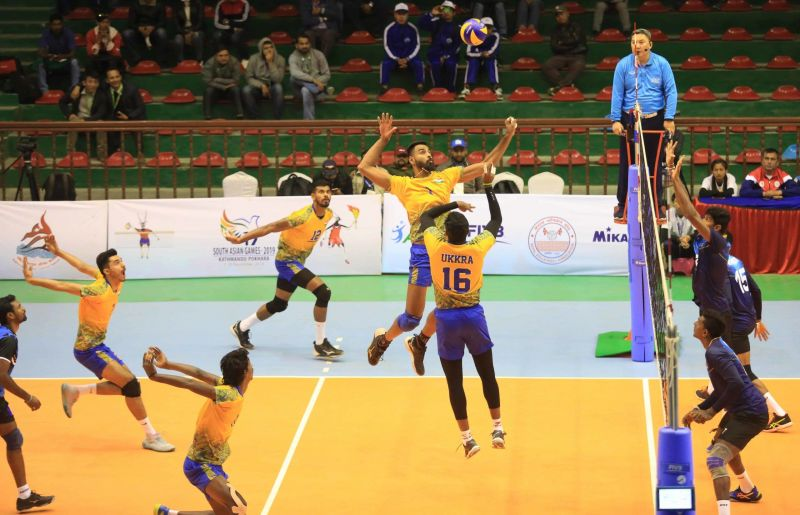 India consolidated the Final spot in the Volleyball event.