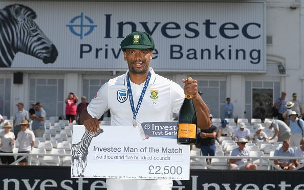 Vernon Philander with a man of the match performance against England