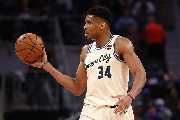 Giannis Antetokounmpo and the Milwaukee Bucks travel to Philadelphia to take on the Sixers