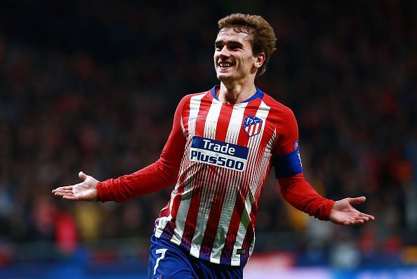 Griezmann in action for Atletico Madrid