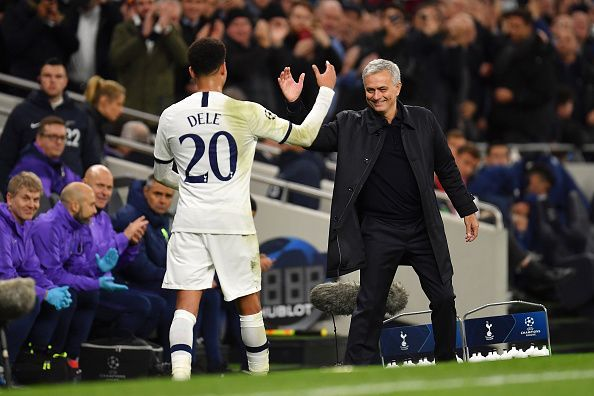 Alli and Mourinho in the Champions League