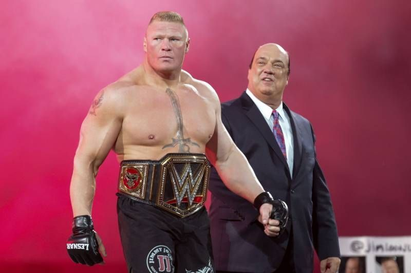 WWE चैंपियन ब्रॉक लैसनर