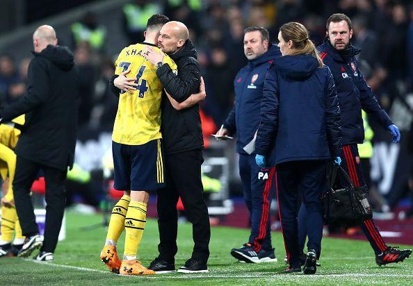Xhaka partnered Lucas Torreira in midfield vs Everton
