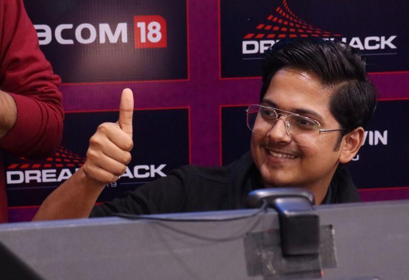 SouL MortaL at the streaming zone in DreamHack Delhi