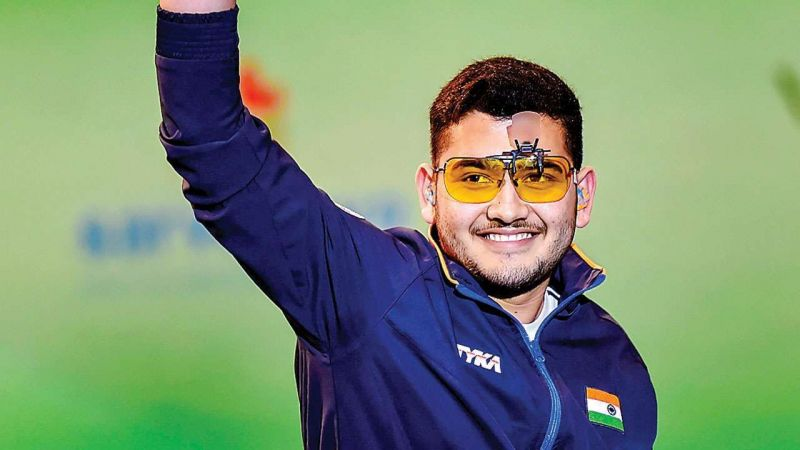 Anish Bhanwala was one of the medalists for India in shooting