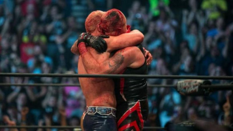 Dustin Rhodes with brother Cody