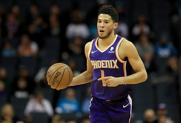 Devin Booker leads the Suns in scoring