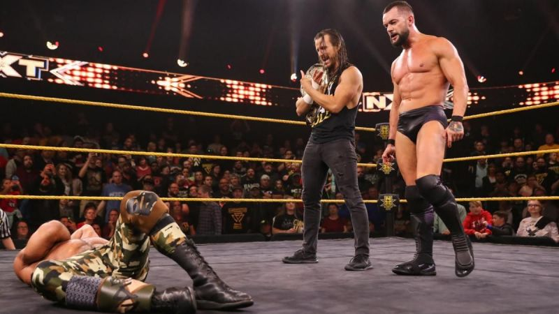 Finn Balor defeated Tommaso Ciampa with the help of Adam Cole