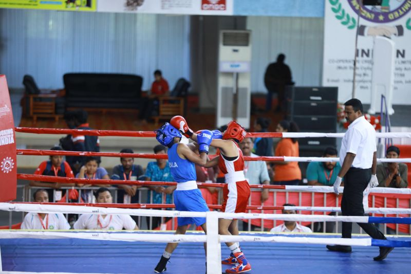 Boxers in action on Day 5