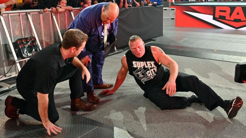 Brock Lesnar on RAW