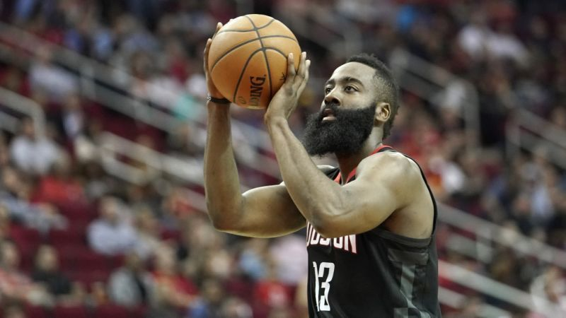 Harden averages almost 15 free throw attempts a game this season.