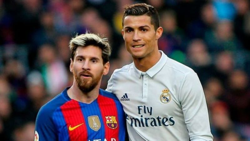 Messi (left) and Ronaldo