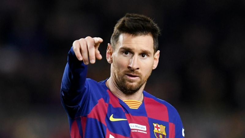 Lionel Messi scored his 50th goal of the year in a Liga game against Alaves
