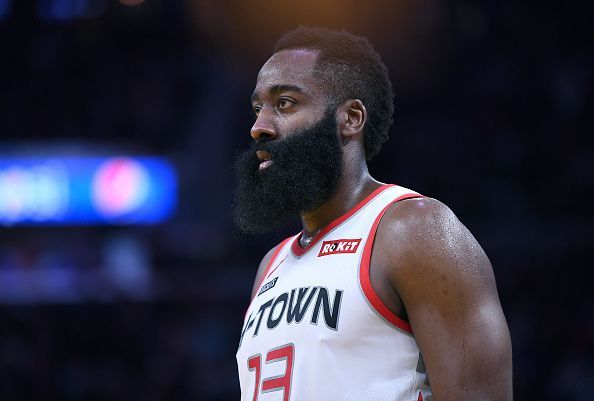 James Harden was 9-of-18 from the field and only attempted one free throw against the Warriors