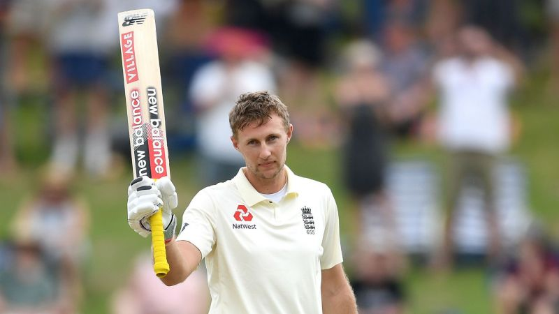 Joe Root celebrates his century in the second Test against New Zealand