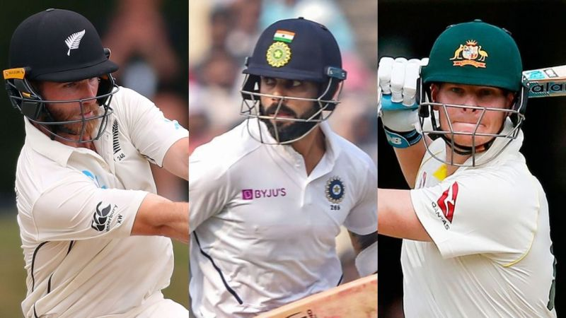 Williamson, Kohli, and Smith - Three modern greats of the game