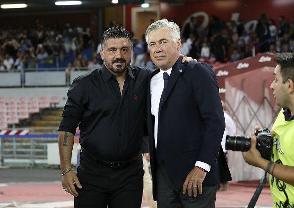 Gennaro Gattuso and Carlo Ancelotti