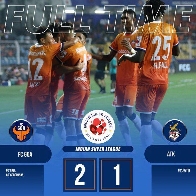 Goa got the better of ATK 2-1 (Image courtesy: FC Goa/Twitter)