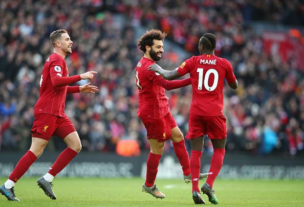 Salah took his two goals brilliantly