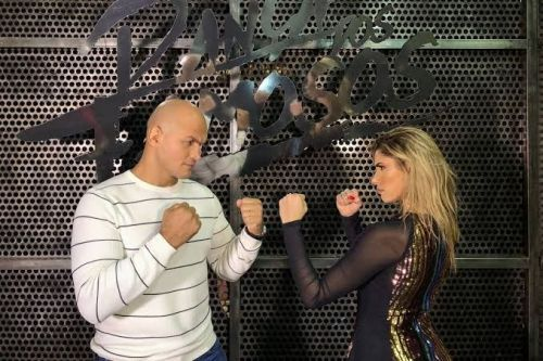 Junior dos Santos with his DWTS dance partner Ana Paula Guedes