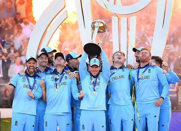 England lifted the World Cup in the summer