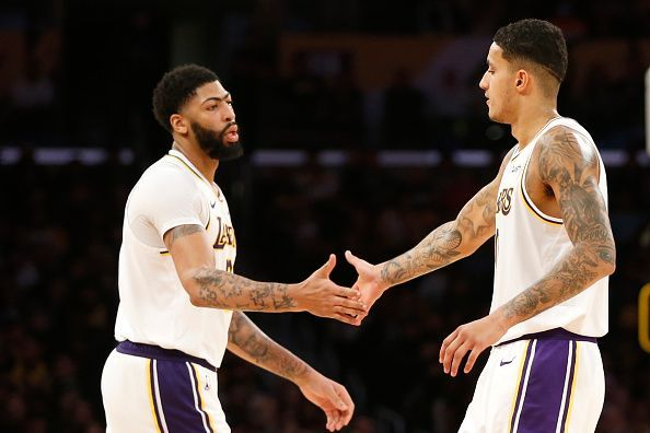 Kyle Kuzma is listed as day-to-day due to a left ankle issue.