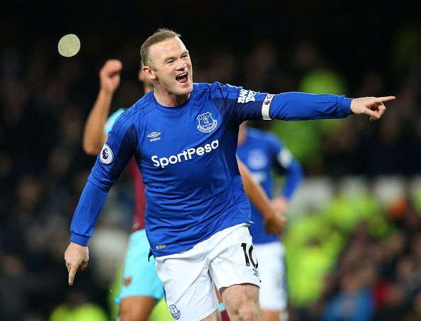 Wayne Rooney made an emotional return to Everton in 2017