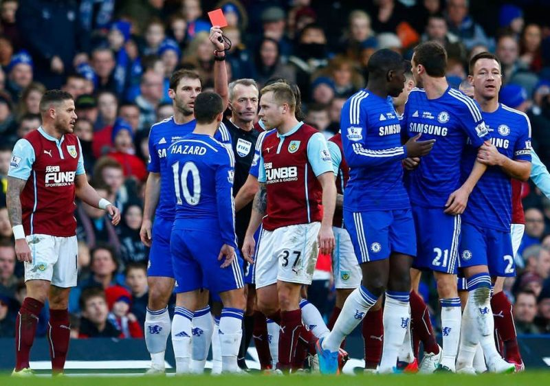 Chelsea fans were furious with Martin Atkinson