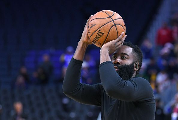 James Harden is playing his typical game.