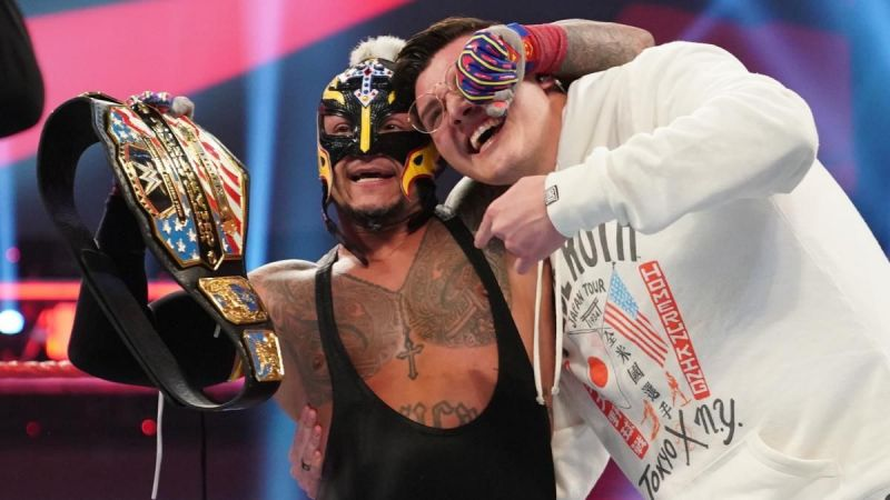 Rey Mysterio and his son Dominic