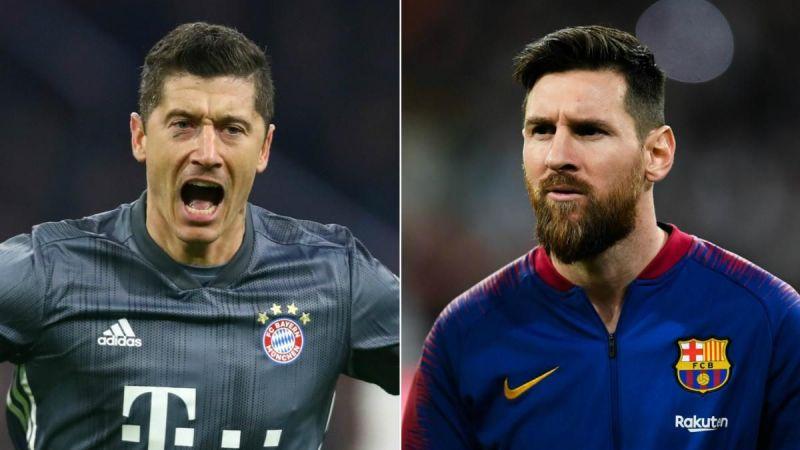 Robert Lewandowski (left) and Lionel Messi