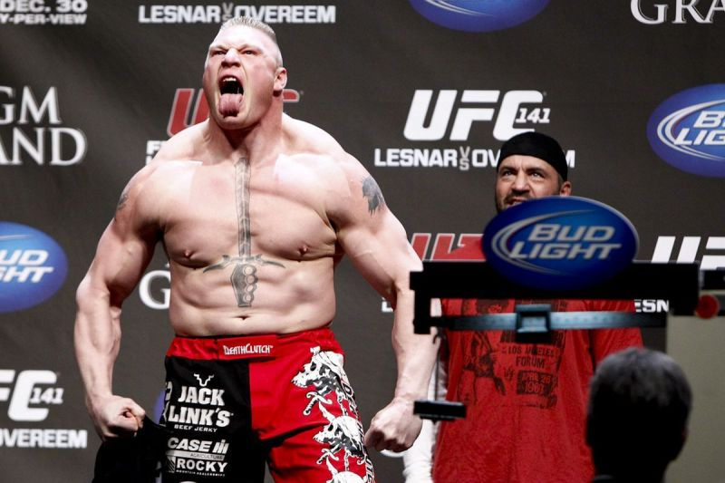 Brock Lesnar held the UFC Heavyweight title at the start of the decade