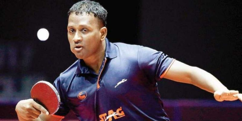 Amalraj Anthony picked up two gold medals in the Table Tennis events