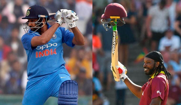 Both Rohit Sharma and Chris Gayle are frequent six hitters