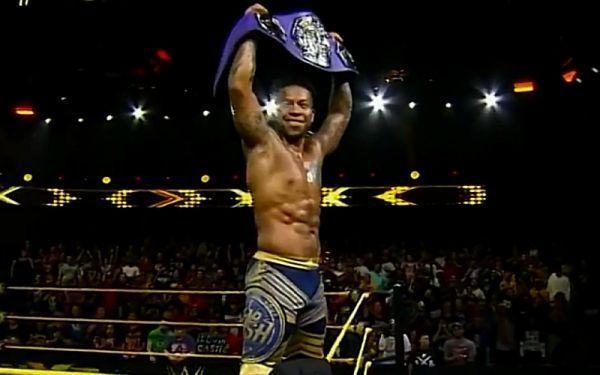 Lio Rush as Cruiserweight Champion