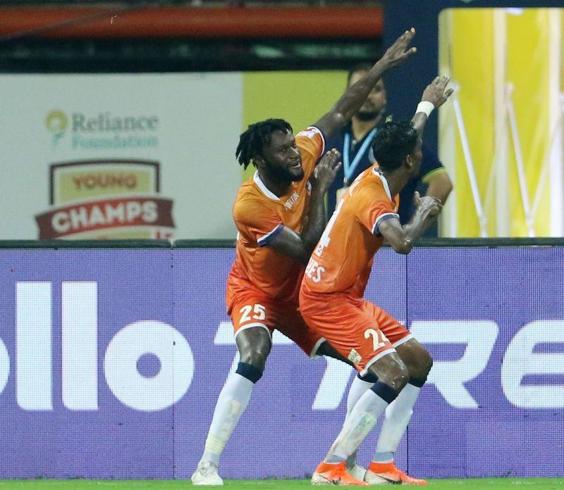 Mourtada Fall celebrates after scoring his goal