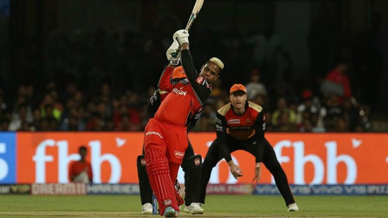 Shimron Hetmyer in action for RCB