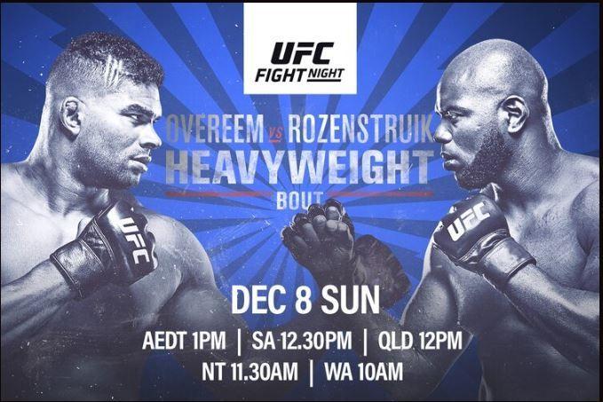 Watch UFC on ESPN: Overeem vs. Rozenstruik 12/7/19