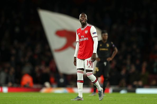 Nicolas Pepe in a UEFA Europa League fixture