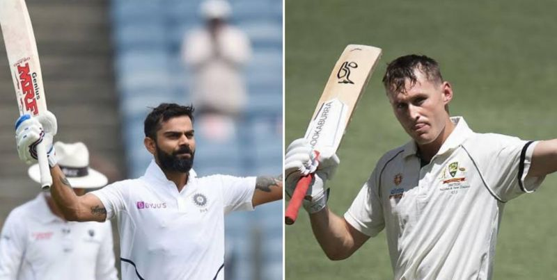 Virat Kohli (left) and Marnus Labuschagne (right)