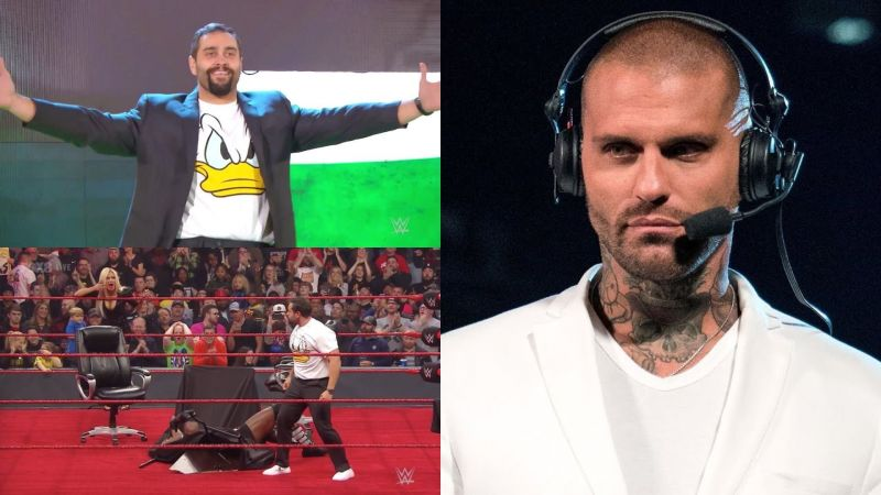 Corey Graves reacted in typical Corey fashion!