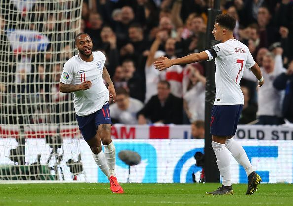 Raheem Sterling hit a hat-trick as England beat the Czech Republic in qualification