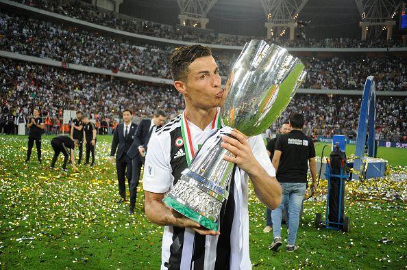 Ronaldo with the Italian Supercup