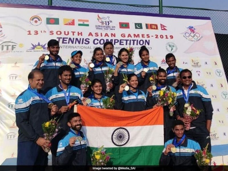 Both the Men and Women Tennis teams got the gold medals at the South Asian Games 2019
